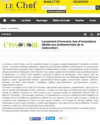 Le Chef 27 septembre site internet L'INNOVORE®